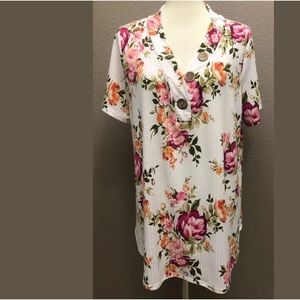 Oddy Womens Knit Pullover Floral Top